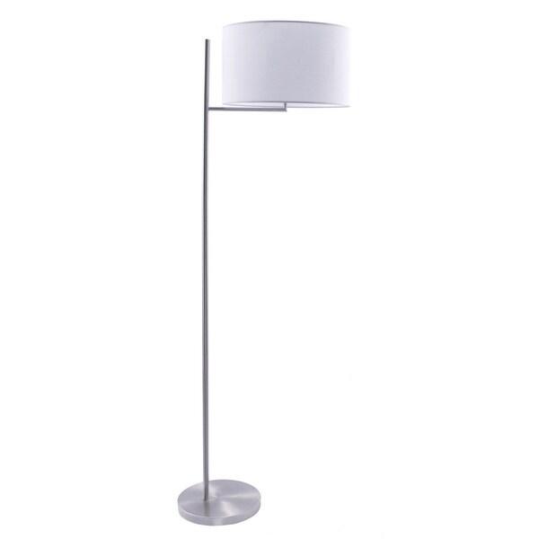 61.75-inch Metal Floor Lamp In Brushed Steel