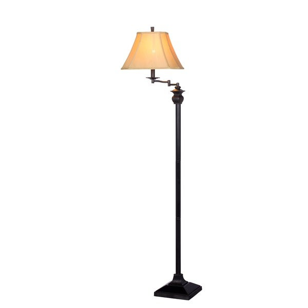 58-inch Swing Arm Floor Lamp In Bronze