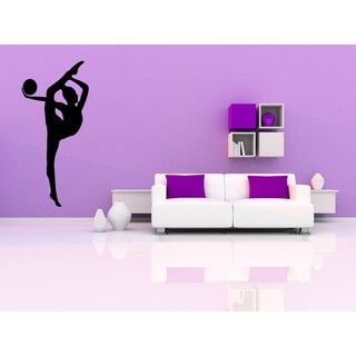 Gymnastics Exercise Ball Girl Wall Art Sticker Decal