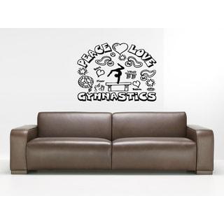 Peace Love Gymnastics Wall Art Sticker Decal