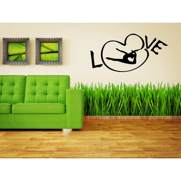 I love gymnastics Wall Art Sticker Decal