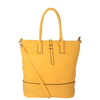 Diophy Faux Leather Studded Tote Handbag