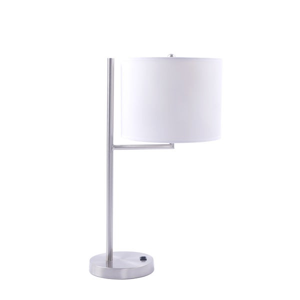 20-inch Metal Table Lamp In Brushed Nickel