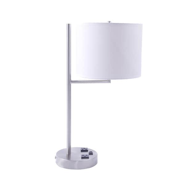 20-inch Metal Tech Table Lamp In Brushed Nickel