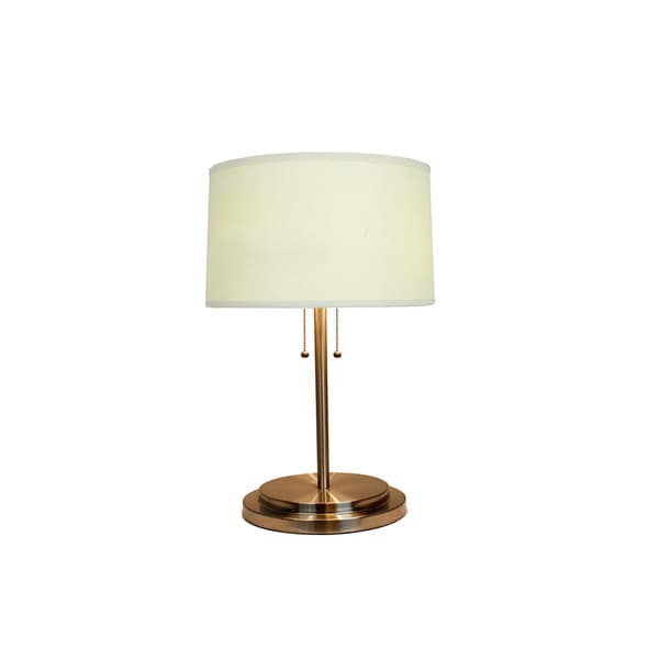 25-inch Dual Light Table Lamp in Brushed Steel