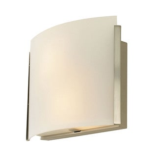 Alico Pannelli Satin Nickel and White Opal Glass 2-light Sconce