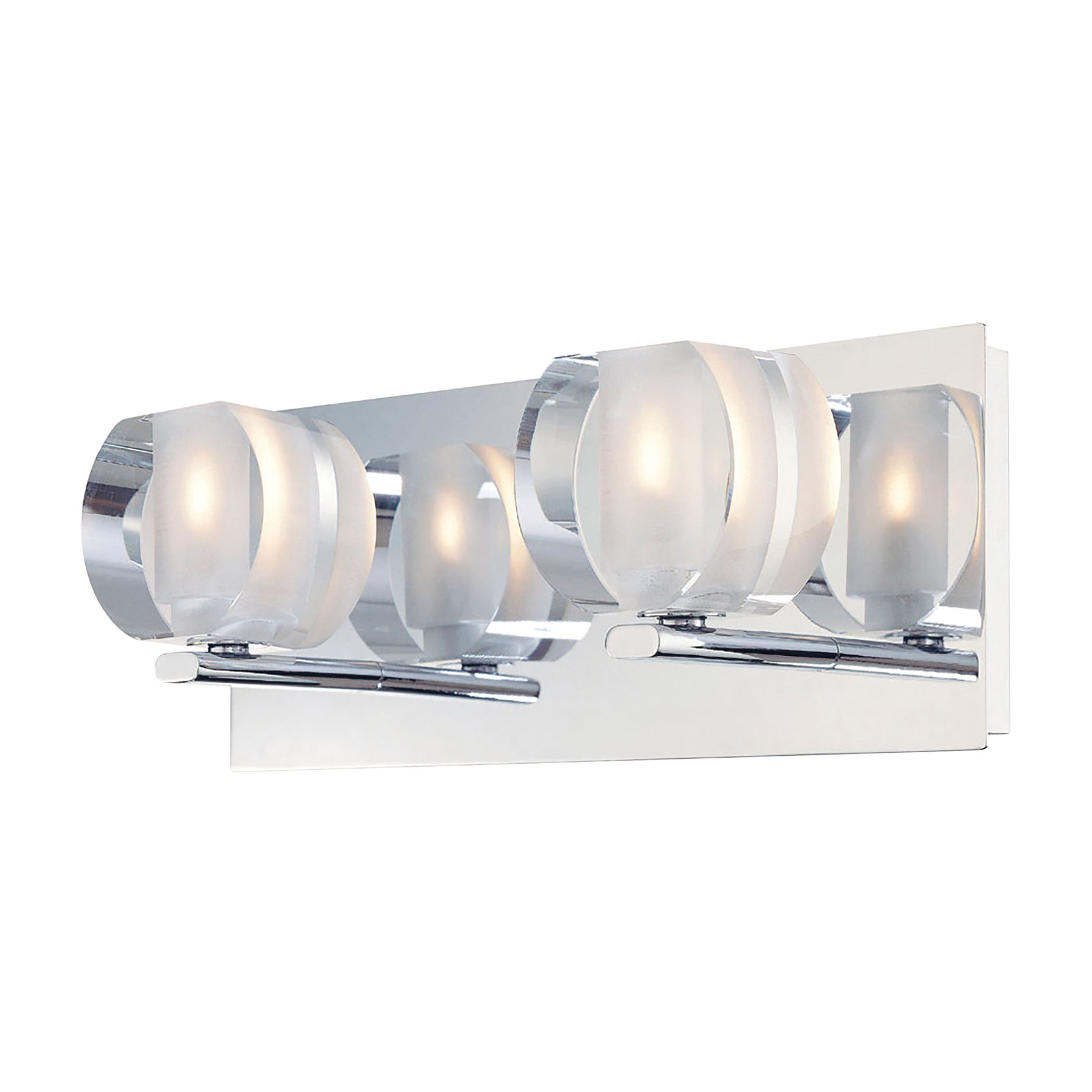 ALICO Circo Chrome and Polished Clear Glass 2-light Vanit...