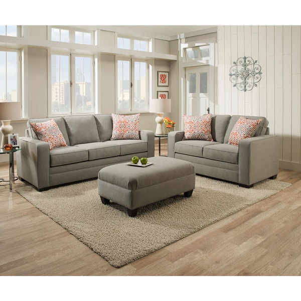 Simmons Upholstery Miramar Ash Queen Sleeper Sofa Free Shipping Today 11412743