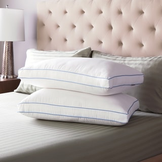swisslux extra firm density gusseted pillows set of 2