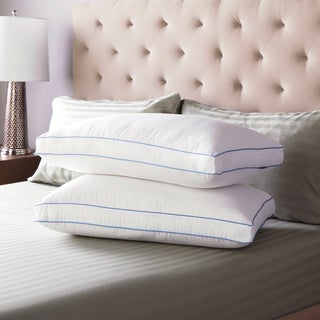 Link to SwissLux Extra Firm Density Gusseted Pillows (Set of 2) Similar Items in Pillows