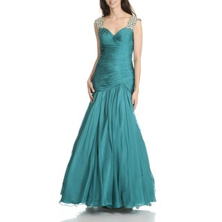 MacDuggal Women's Fit and Flare Mermaid Evening Gown