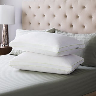 SwissLux Firm Density Gusseted Pillows (Set of 2)