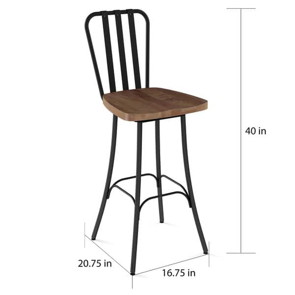 Amazing Shop Carbon Loft Murdock Swivel Metal Counter Stool With Dailytribune Chair Design For Home Dailytribuneorg