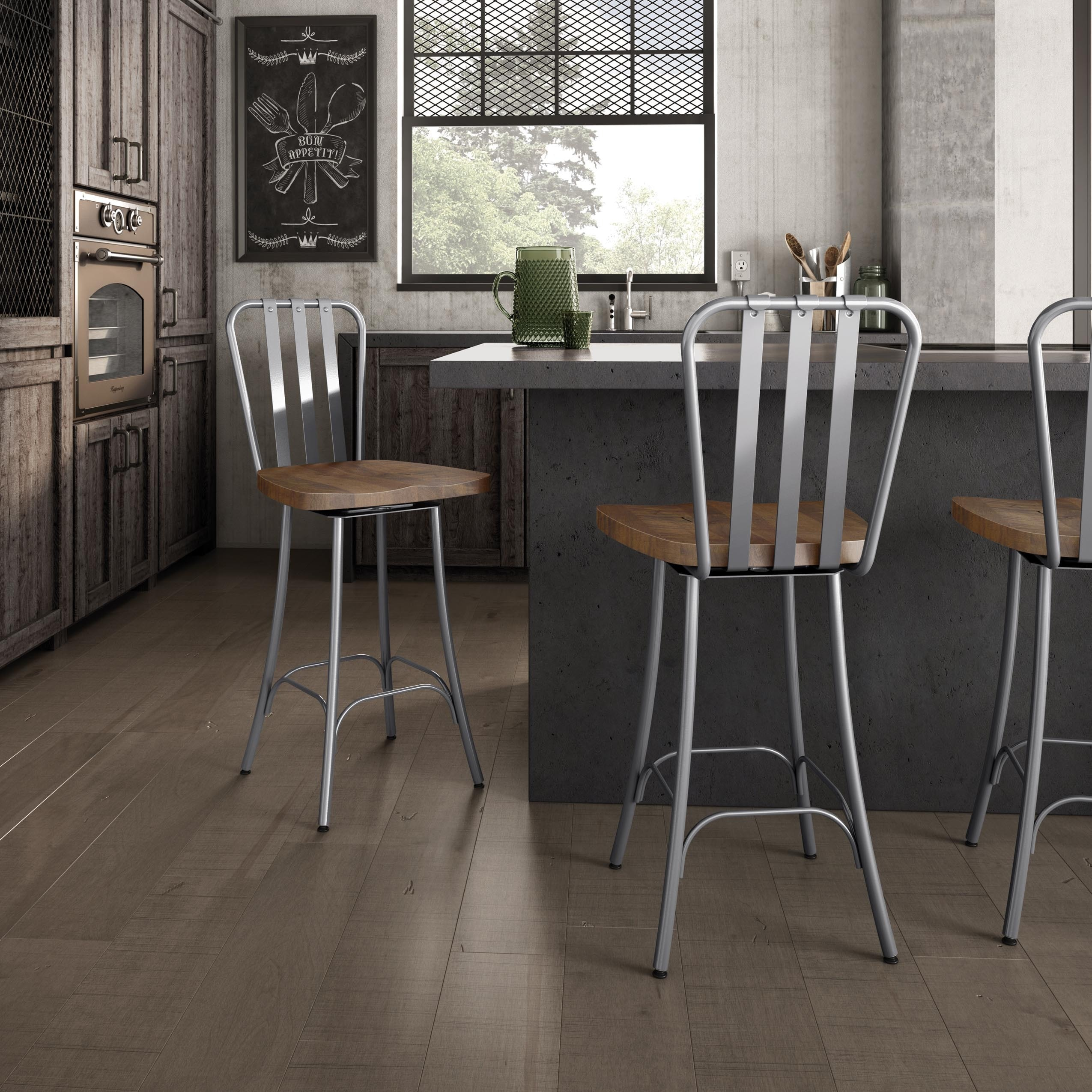 Awe Inspiring Carbon Loft Murdock Swivel Metal Counter Stool With Distressed Wood Seat Gmtry Best Dining Table And Chair Ideas Images Gmtryco