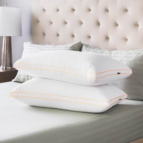 Swiss Lux Medium Density Gusseted Pillows (Set of 2)