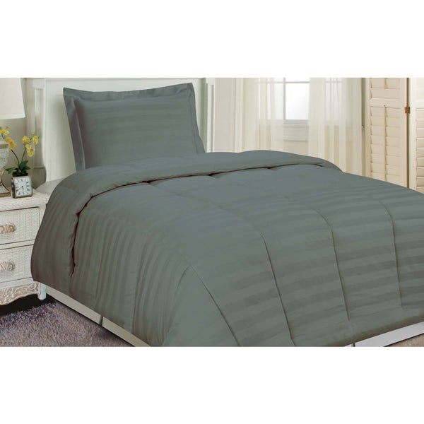 Damask Stripe Comforter Set