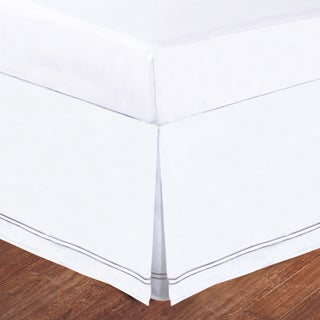 Baratta Stitch Embroidery 14-inch Drop Bed Skirt