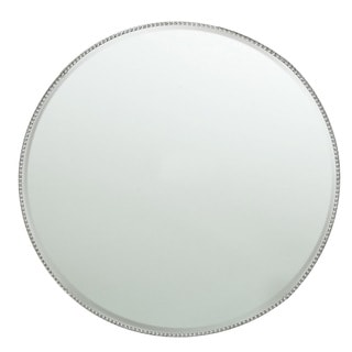 Bead Mirror Charger Plate 13-inchD