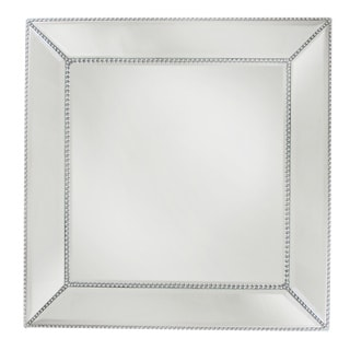 Bead Mirror Square Charger Plate 13-inchD