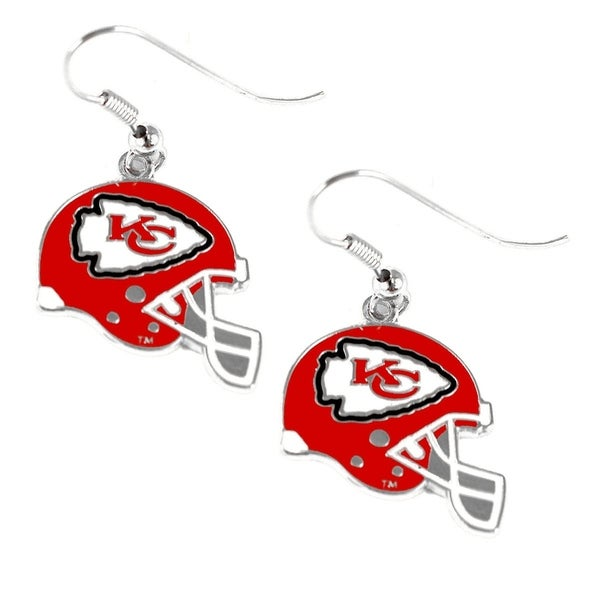 e0ecc0567f540 Shop NFL Kansas City Chiefs Sports Team Logo Helmet Shaped Earring Set  Charm Gift - Free Shipping On Orders Over $45 - Overstock - 11412904