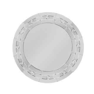 Mosaic Mirror Round Charger Plate 13-inchD