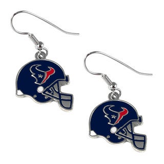 Houston Texans NFL Helmet Shaped J-Hook Silver Tone Earring Set Charm Gift