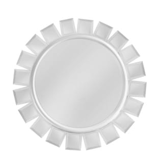 Silver Accent Mirror Round Charger Plate 14-inchD