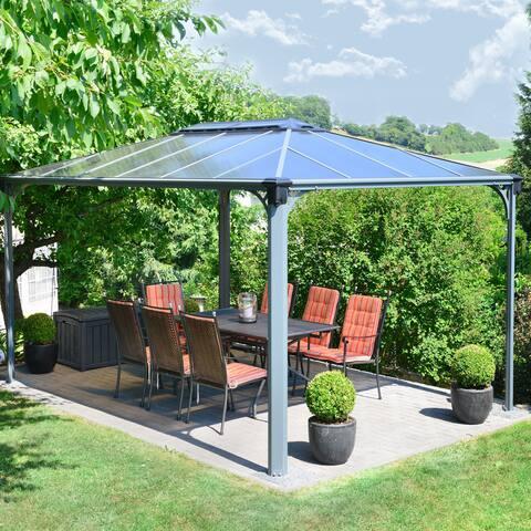 Havenside Home Hopedale 14x10-foot Hard Top Gazebo - 169.3 in. l x 116.3 in. w x 108.1 in. h
