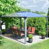 Palram Martinique 4300 14 ft. x 10 ft. Rectangle Hard Top Gazebo - 169.3 in. l x 116.3 in. w x 108.1 in. h