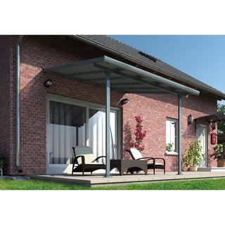 Palram Feria Grey 10ft. x 10ft. Patio Cover