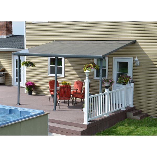 Palram Feria Grey Patio Cover 10 X27