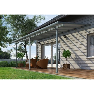 Palram Feria Grey 10ft. x 20ft. Patio Cover