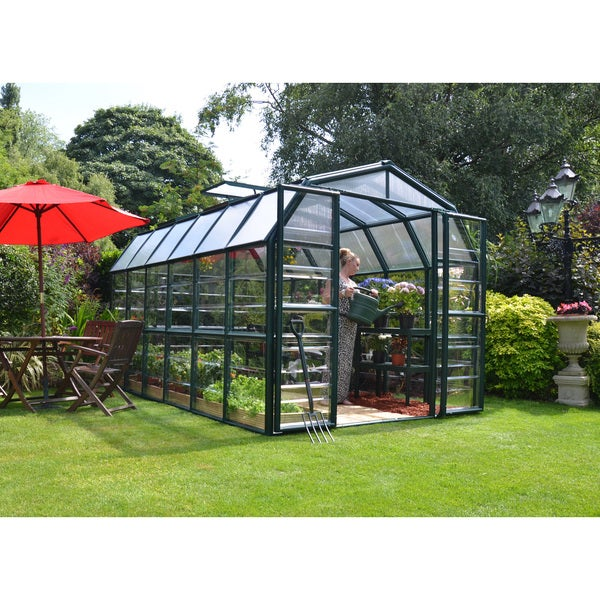 Palram Grand Gardener Clear 8ft. X 12ft. Greenhouse by Palram