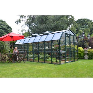 palram grand gardener clear 8ft x 16ft greenhouse