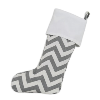 Ash Zig-zag Lined Trimmed Stocking
