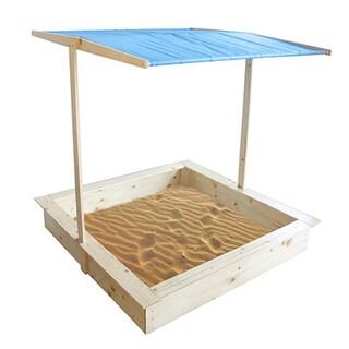 Homewear Wood Sand Box with Canopy