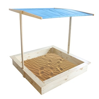 Homewear Wood Sand Box with Canopy
