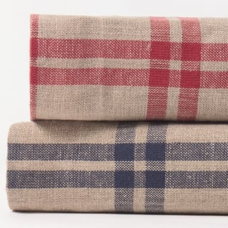 Neil Red Plaid Linen Duvet Cover