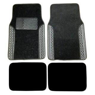 Black Baja Two-tone Carpet Mats