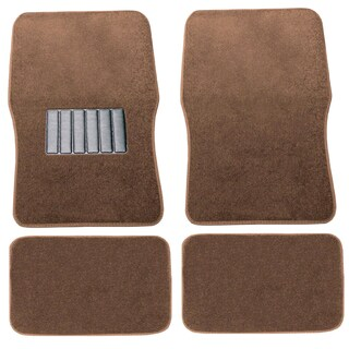 Premium Carpet Brown Mats (Set of 4)