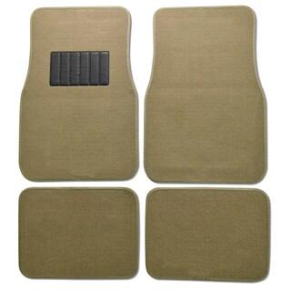 Premium Carpet Beige Mats (Set of 4)