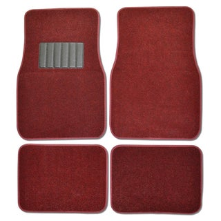 Premium Carpet Red Mats (Set of 4)