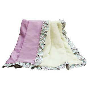 The Peanut Shell Zoe Purple Velour Blanket