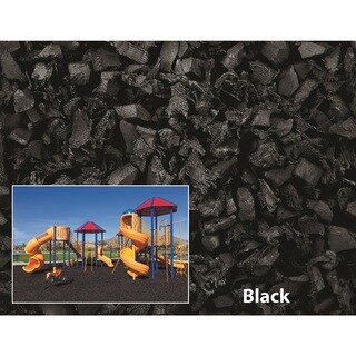 NuPlay Black Rubber Mulch 75 Cubic Foot Pallet
