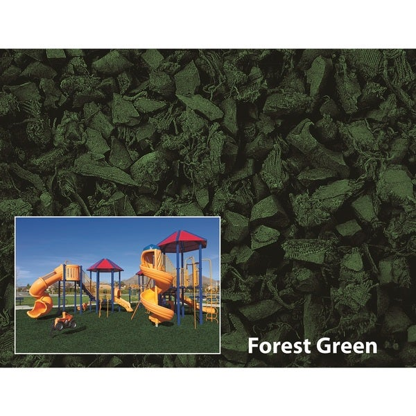 NuPlay Forest Green Rubber Mulch 75 Cubic Foot Pallet