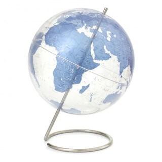 Crystal Marquise Blue World Globe