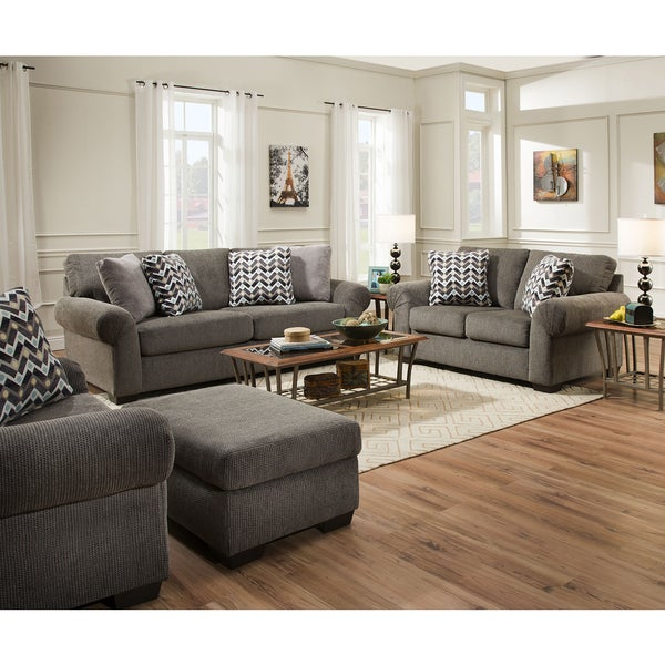 Shop Simmons Upholstery Tokyo Pebble Sofa Free Shipping Today