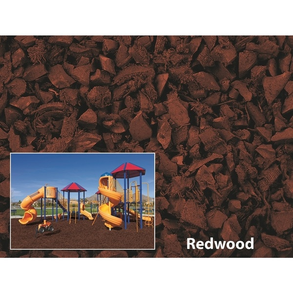 NuPlay Redwood Rubber Mulch 75 Cubic Foot Pallet