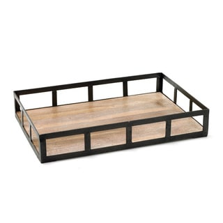 Iron and Wood Tray