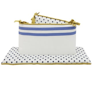 The Peanut Shell Stargazer Reversible Crib Bumper